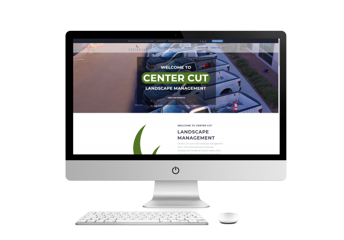 Center Cut Landscaping Web Design Project