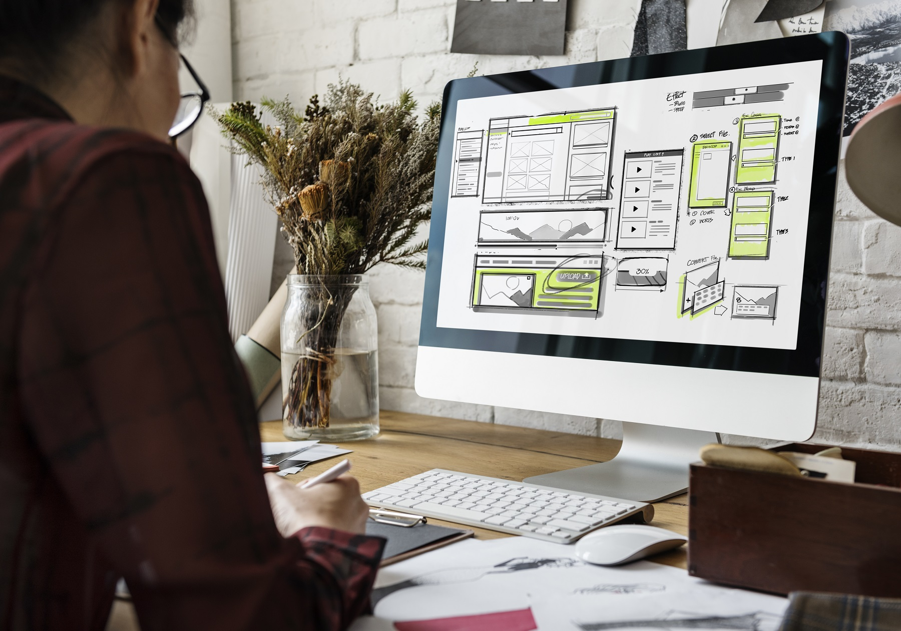 website wireframe planning